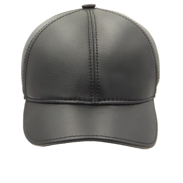 Demi-Season Baseball Leather cap - 010Z1