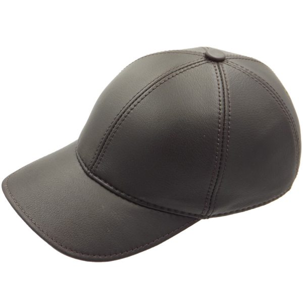 Demi-Season Baseball Leather Cap - 010Z2