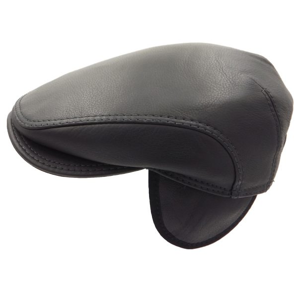 Stylish Leather Cap - 033Z1