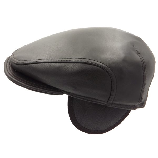 Stylish Leather Cap - 033Z2