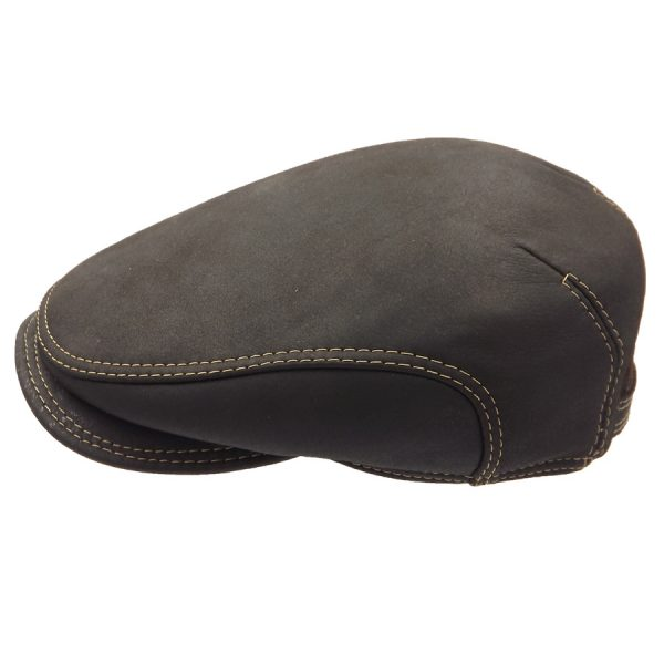 Stylish Leather Cap - 033Z22