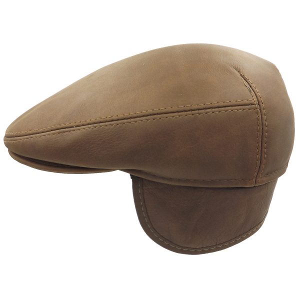 Dark Brown Leather Cap - 04Z-4