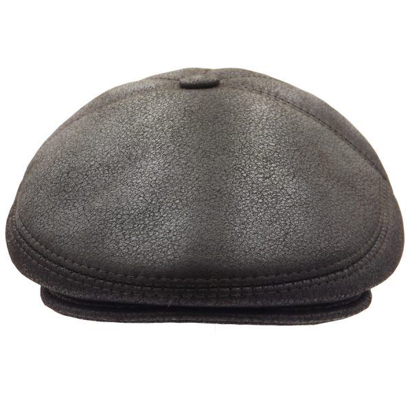 Classic Sheepskin Dark Brown Cap - 02K-2