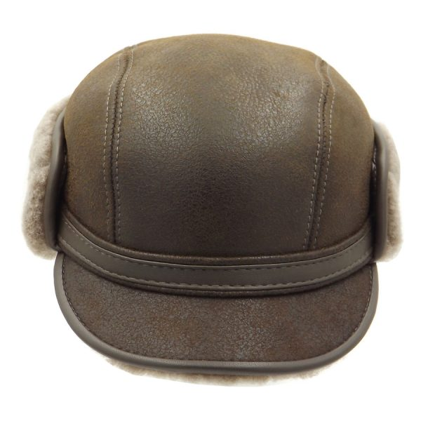 Stylish Light Brown Raglan Hat - 016K-3
