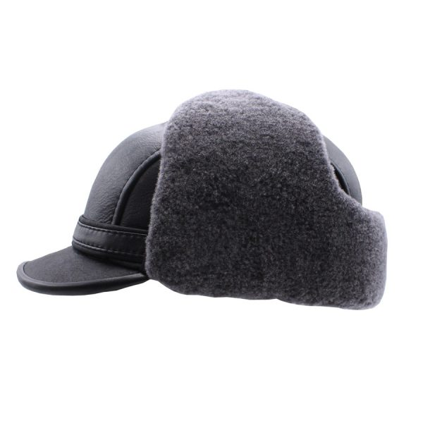 Stylish Black Raglan Hat - 018K1