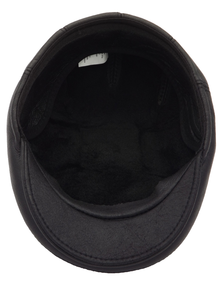Stylish Black Raglan Sheepskin Hat - 03K-1