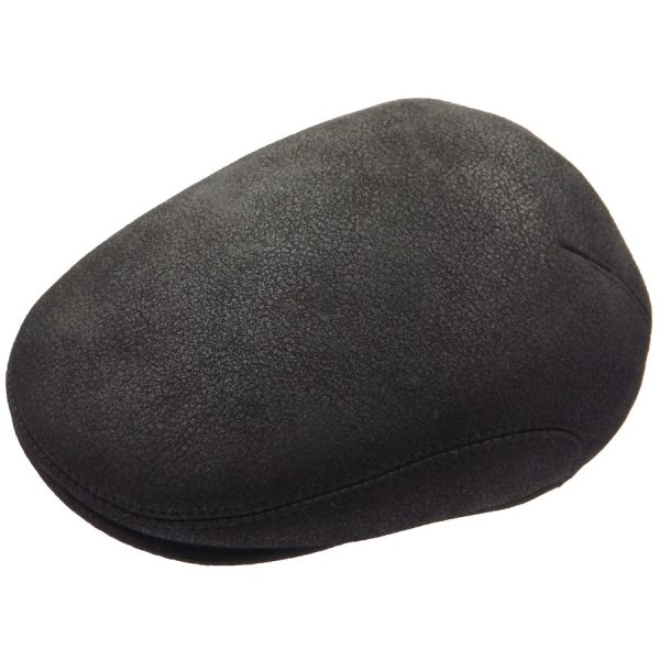 Stylish Black Raglan Sheep Skin Cap - 03K-11