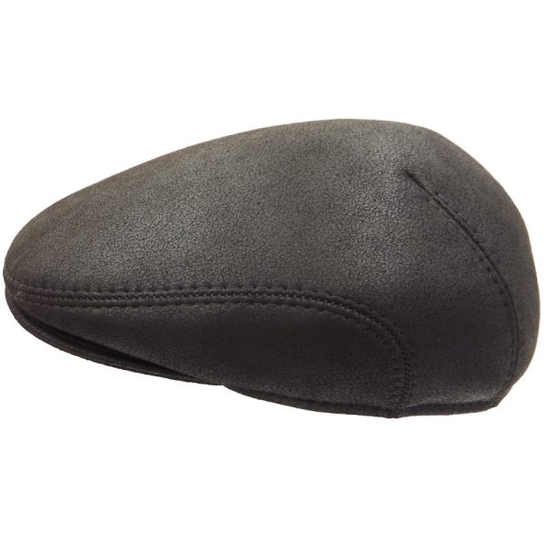 Stylish Dark Brown Raglan Sheep Skin Cap - 03K-2