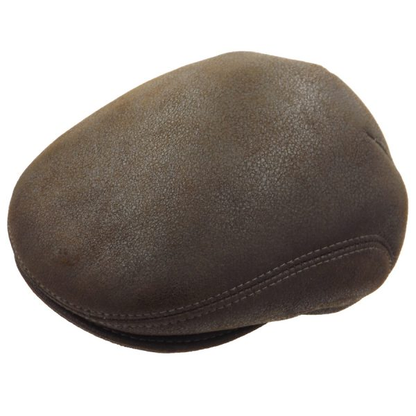 Stylish Light Brown Sheepskin Cap - 03K-3