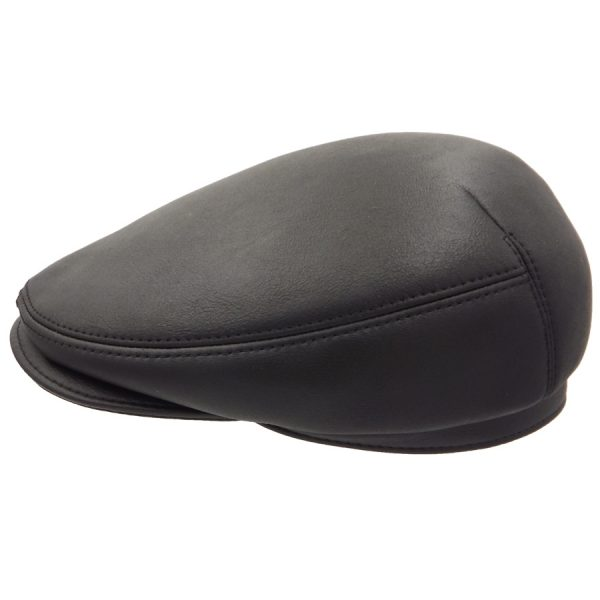 Stylish Black SheepSkin Cap - 04K1