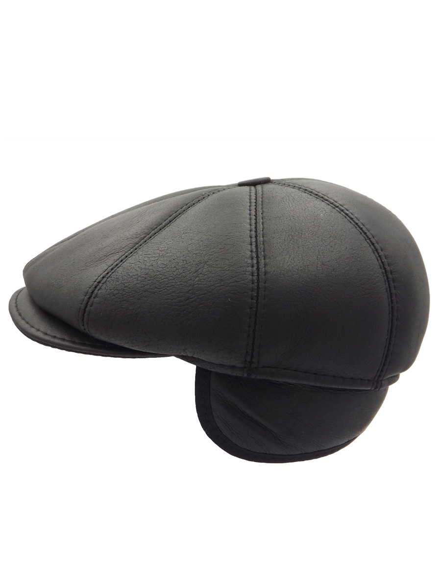 Stylish Black Eight-piece Cap - 08K1