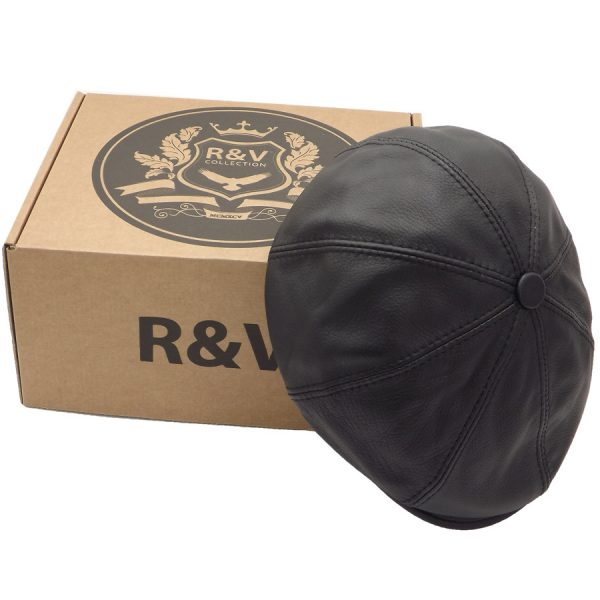 Stylish Black Eight-Piece Cap - R08Z-1