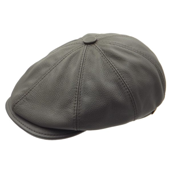 Stylish Brown Eight-Piece Cap - R08Z-2